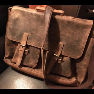 Other - Leather Messenger Laptop Bag